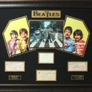 The Beatles Authentically Signed Collage Display.