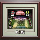 Ohio Buckeyes 2014-15 National Champions Photo Display.