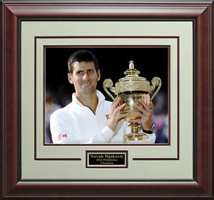 Novak Djokovic 2014 Wimbledon Champion Photo Display.