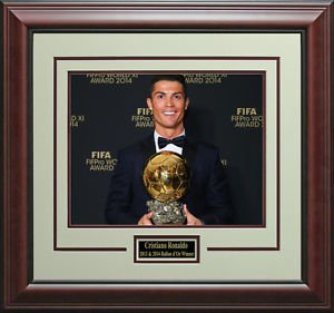 Cristiano Ronaldo Wins FIFA Ballon d'Or Photo Display.