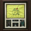 Jordan Spieth Signed Masters Pin Flag Collage Display.