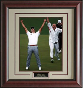 Adam Scott Winning Putt 11x14 Photo Framed