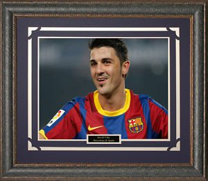 David Villa FC Barcelona Framed Photo