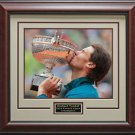 Rafael Nadal Wins 2013 French Open Framed Photo