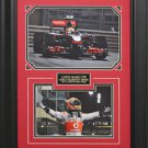 Lewis Hamilton Photo Collage Framed