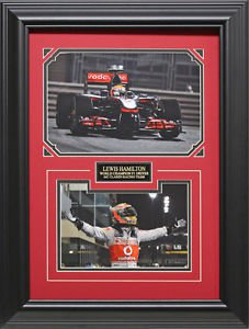 Lewis Hamilton Photo Collage Framed