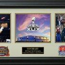Tom Brady 2015 Super Bowl Champion Photo Collage Display.