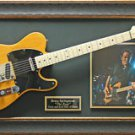 Bruce Springsteen Engraved Replica Signature Framed Guitar Display