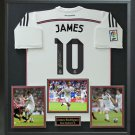 James Rodriguez Signed Real Madrid Jersey Display.