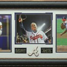 Greg Maddux - Tom Glavine - Bobby Cox Atlanta Braves 2014 HOF Photo Display