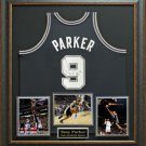 Tony Parker Signed San Antonio Spurs Jersey Display