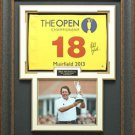Phil Mickelson Autographed 2013 British Open Flag Framed