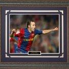 Andres Iniesta FC Barcelona Framed Photo