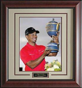 Tiger Wins WGC-Cadillac Championship Photo Framed