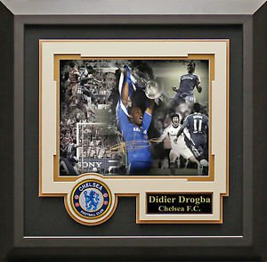 Didier Drogba Signed Champions League Large Hero Photo Display.