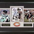 Walter Payton Signed Chicago Bears Photo Display.