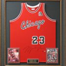 Michael Jordan Signed Bulls ROY M&N Jersey Display.