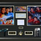 Star Trek Autographed Collage Display.