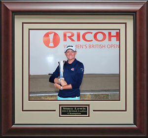 Stacy Lewis Wins 2013 British Open Champion 11x14 Photo Framed