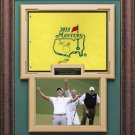 Adam Scott & Steve Williams Signed 2013 Masters Flag Display