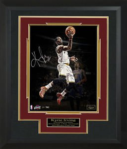 Kyrie Irving Signed Cavaliers Highlight Photo Display LE of 22.