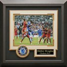 Didier Drogba Signed Champions League Header Photo Display.