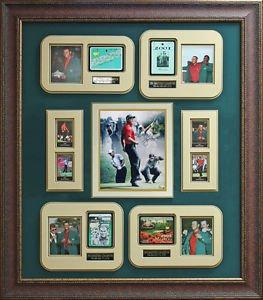 Tiger Woods Signed Masters Championships Framed Display
