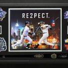 Derek Jeter Signed Game Model Bat and Final Season Retirement Logo Display.