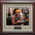 Serena Williams 2013 French Open Champion Framed Photo