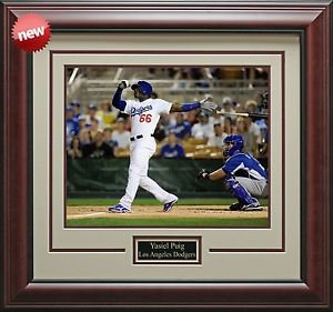 Yasiel Puig Los Angeles Dodgers Framed Photo