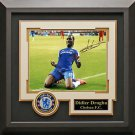 Didier Drogba Signed Champions League Celebration Photo Display.