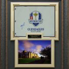 Graeme McDowell Signed 2014 Ryder Cup Flag Display.