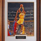 Kobe Bryant Los Angeles Lakers Color Photo Matted and Framed