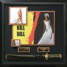 Uma Thurman & David Carradine Signed Kill Bill Collage Display.