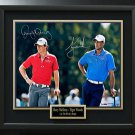 Rory McIlroy & Tiger Woods Signed Focus Photo Display LE of 100 UDA.