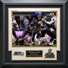 Marshawn Lynch Signed Seahawks Photo Framed Display.
