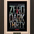 Zero Dark Thirty Poster Framed