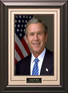 George W. Bush Portrait 11x14 Photo Framed