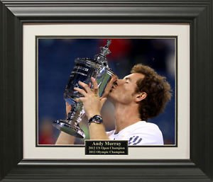 Andy Murray 2012 US Open 16x20 Photo Framed