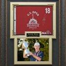 Justin Rose Signed 2013 US Open Flag Framed