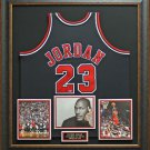 Michael Jordan Autographed UDA Hall of Fame Jersey Framed