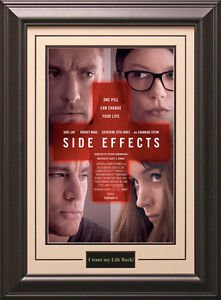 Side Effects Movie Poster Framed