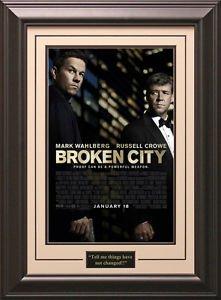Broken City Framed Movie Poster