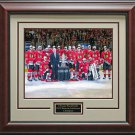Chicago Blackhawks Western Conference Champions Photo Framed