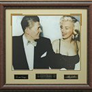 Ronald Reagan & Marilyn Monroe Engraved Replica Signatures Display.