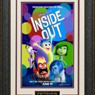 Inside Out Mini Movie Poster Framed Display.