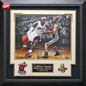 Lebron James Signed NBA Finals Match Up Photo Framed