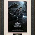 Jurrassic World Mini Movie Poster Framed Display.