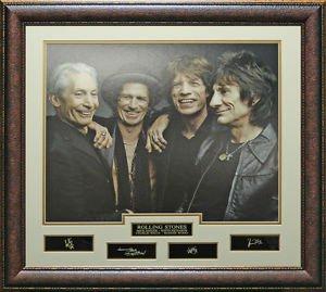 Rolling Stones Replica Signature Framed Photo