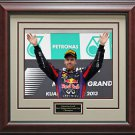 Sebastian Vettel Wins Malaysian Grand Prix Photo Framed